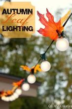 autumn leaf lighting, lighting, patio, seasonal holiday decor, Autumn Leaf Lighting