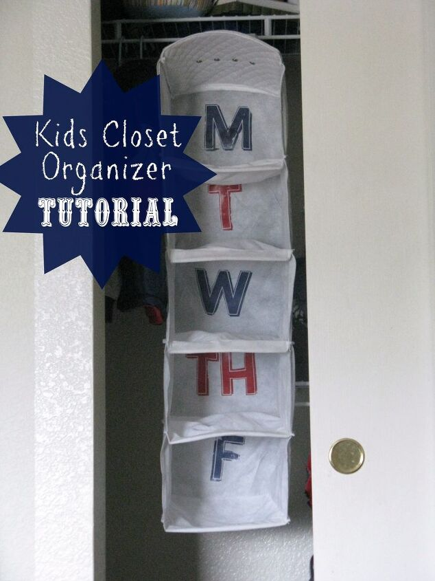 Diy Daily Clothes Organizer For The Kids Closet Organizing My Sons New