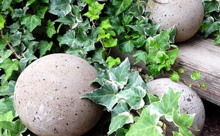 diy concrete garden globes, concrete masonry, crafts, diy, gardening, home decor