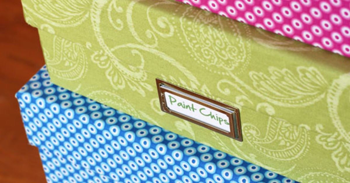One yard decor fabric covered boxes hometalk for Fabric covered boxes craft