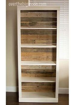 pallet backed bookshelf, pallet, storage ideas