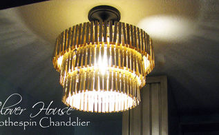 clothespin chandelier, crafts, lighting, repurposing upcycling, 192 clothespins