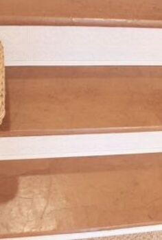 paper bag floor stairs, flooring, home decor, stairs, Paper bag stairs floor