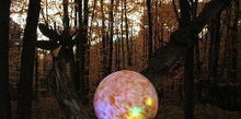 lighted gazing ball, diy, gardening, how to, lighting, My original beloved Fairyball
