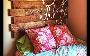 diy pallet headboard, diy, how to, pallet, Pallet Headboard