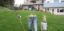 the scarecrow of the invisible man, gardening, Sorry Not the best picure The close ups are much better Check out my NEW blogspot to see additional close ups