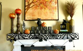 halloween home decor, halloween decorations, seasonal holiday d cor, Halloween Mantle