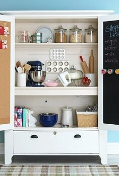 upcycle that old armoire let it spice up your kitchen, chalkboard paint, kitchen design, painted furniture, This suggestion comes from Better Homes Gardens Find out how to make this armoire here