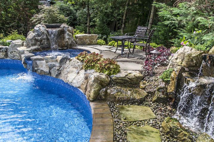 Award winning freeform pool and spa hometalk for Award winning backyard designs