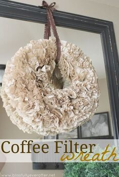 how to make a coffee filter wreath, crafts, wreaths