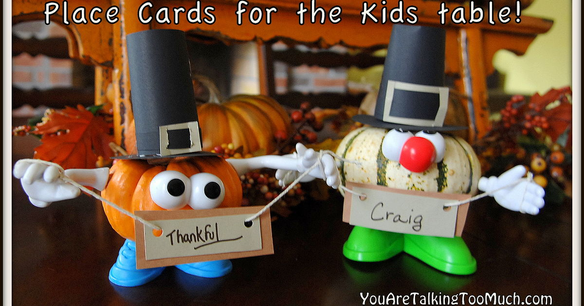 Punkin 39 Head Place Card Holders Perfect For The Kids