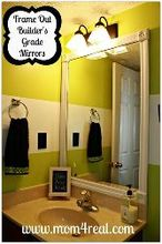 frame out your builder s grade mirrors no mitering required, bathroom ideas, home decor, Frame out your mirrors