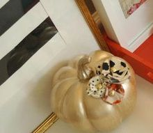 fall decor pumpkins embellished, halloween decorations, painting, seasonal holiday decor