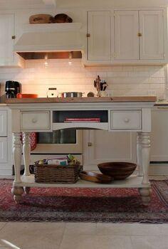 diy kitchen island, home decor, kitchen design, kitchen island, DIY Island from Sofa Table