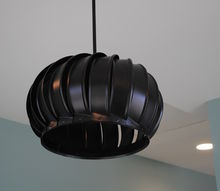 wind turbine light fixture, lighting, repurposing upcycling