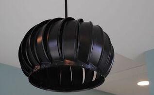 wind turbine light fixture, lighting, repurposing upcycling