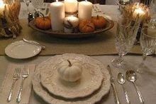thanksgiving tablescape in cream with natural elements, home decor, seasonal holiday decor, thanksgiving decorations, Vintage and thrift store finds complete the look
