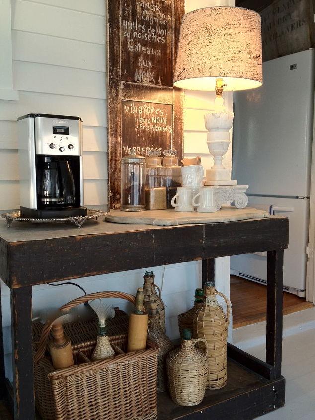 coffee station via savvycityfarmer home decor kitchen design kitchen island outdoor furniture - Island Home Decor