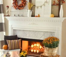 fall fireplace mantel rustic mums, crafts, fireplaces mantels, repurposing upcycling, seasonal holiday decor