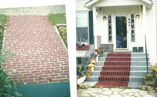 painted walkways, painting, porches