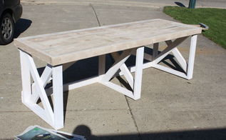 building a trestle desk from scrap lumber, painted furniture, woodworking projects, Priming The Bottom Of The Desk