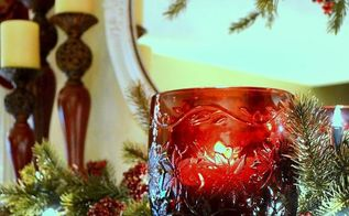 christmas mantel, seasonal holiday d cor, Christmas mantel closeup