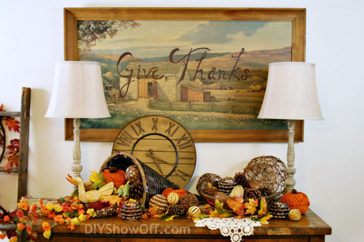 Thanksgiving Wall Art From Thrift Store Print Crafts Dining Room Ideas Seasonal