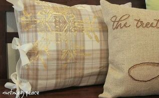 no sew pillow covers, repurposing upcycling, seasonal holiday d cor