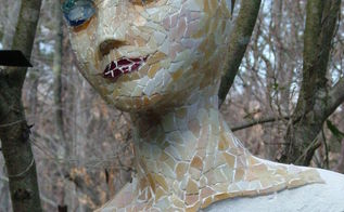 unfinished mosaic mixed media, crafts, tiling