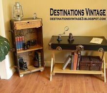 upcycled trunk into bookcase, diy, painted furniture, repurposing upcycling, woodworking projects