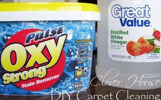diy carpet cleaning, cleaning tips, flooring, Oxy Clean vinegar and warm water is all we used