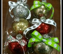 glitter on the inside ornaments, christmas decorations, crafts, seasonal holiday decor, the finished product BEAUTIFUL