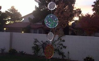 hanging yard art, home decor, My first yard art peice