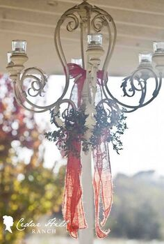 christmas on the back porch, outdoor living, porches, outdoor chandy
