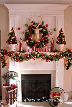 our 2012 christmas mantel, christmas decorations, seasonal holiday decor