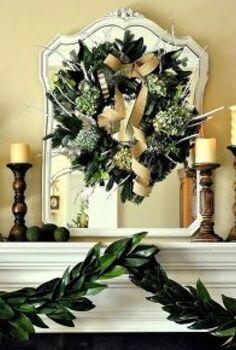 simple garden inspired christmas mantel, christmas decorations, seasonal holiday decor, wreaths