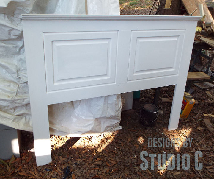 Build A Headboard Using Old Cabinet Doors