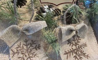 how to make a snowflake burlap christmas ornament, christmas decorations, seasonal holiday decor
