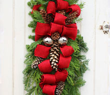 how to make a christmas swag, christmas decorations, how to, seasonal holiday decor