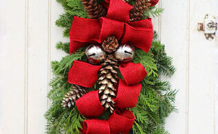 how to make a christmas swag, christmas decorations, how to, seasonal holiday decor