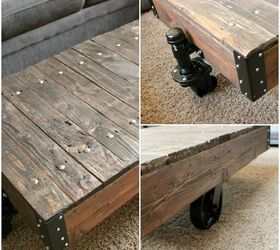 Knock Off Restoration Hardware Furniture #27: Diy Factory Cart Table A Restoration Hardware Knockoff, Painted Furniture, Repurposing Upcycling, Woodworking