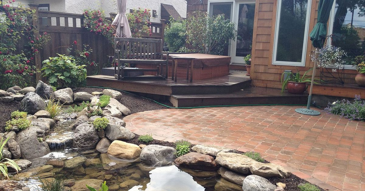 Furniture Repair Rochester Ny Stunning Landscape Design (Ideas) W/Fish Pond & Paver Patio By Acorn ...