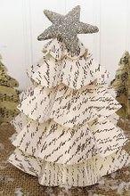 last minute christmas easy vintage paper trees, crafts, seasonal holiday decor