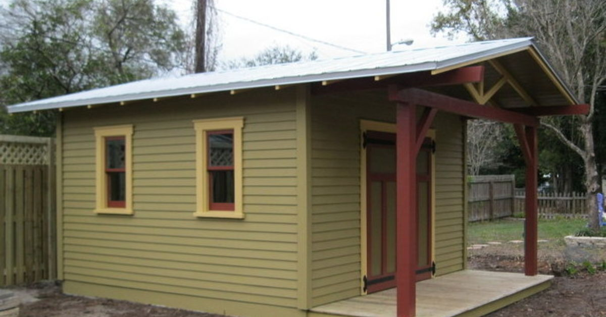 Custom shed to complement a craftsman bungalow hometalk for Sheds brooksville fl
