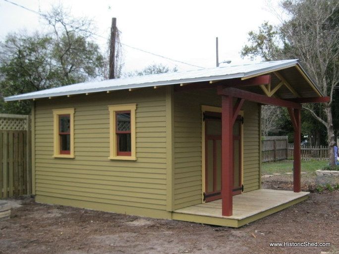 Custom shed to complement a craftsman bungalow hometalk for Craftsman style shed plans