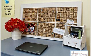 old window turned wine cork board, chalk paint, diy, how to, repurposing upcycling, Wine cork board placed on my chalk painted desk