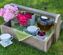 how to turn pallet into rustic trugs, pallet, woodworking projects, Perfect for a country chic tea party