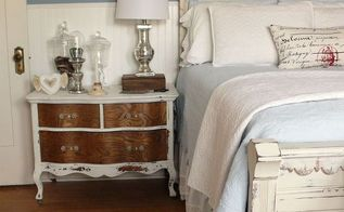 second guest bedroom reveal, bedroom ideas, home decor, MMS Milk paint dresser as a bedside table