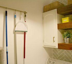 Laundry Room Decor Ideas Using Shelves, Home Decor, Laundry Rooms