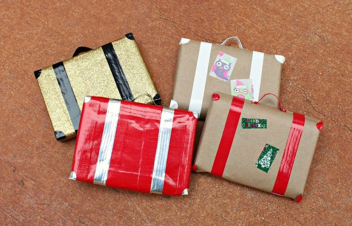 How To Wrap Gifts To Look Like Retro Suitcases Hometalk
